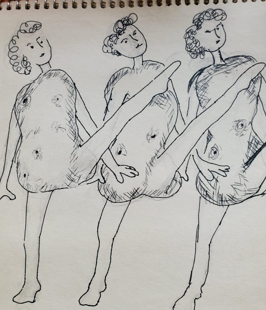 dancing potatoes sketch