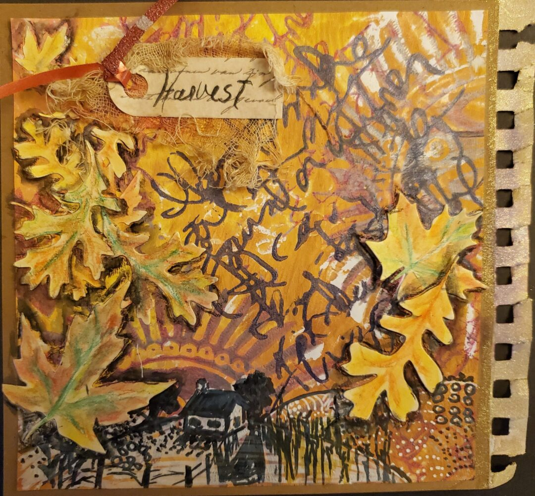 Harvest art journal page