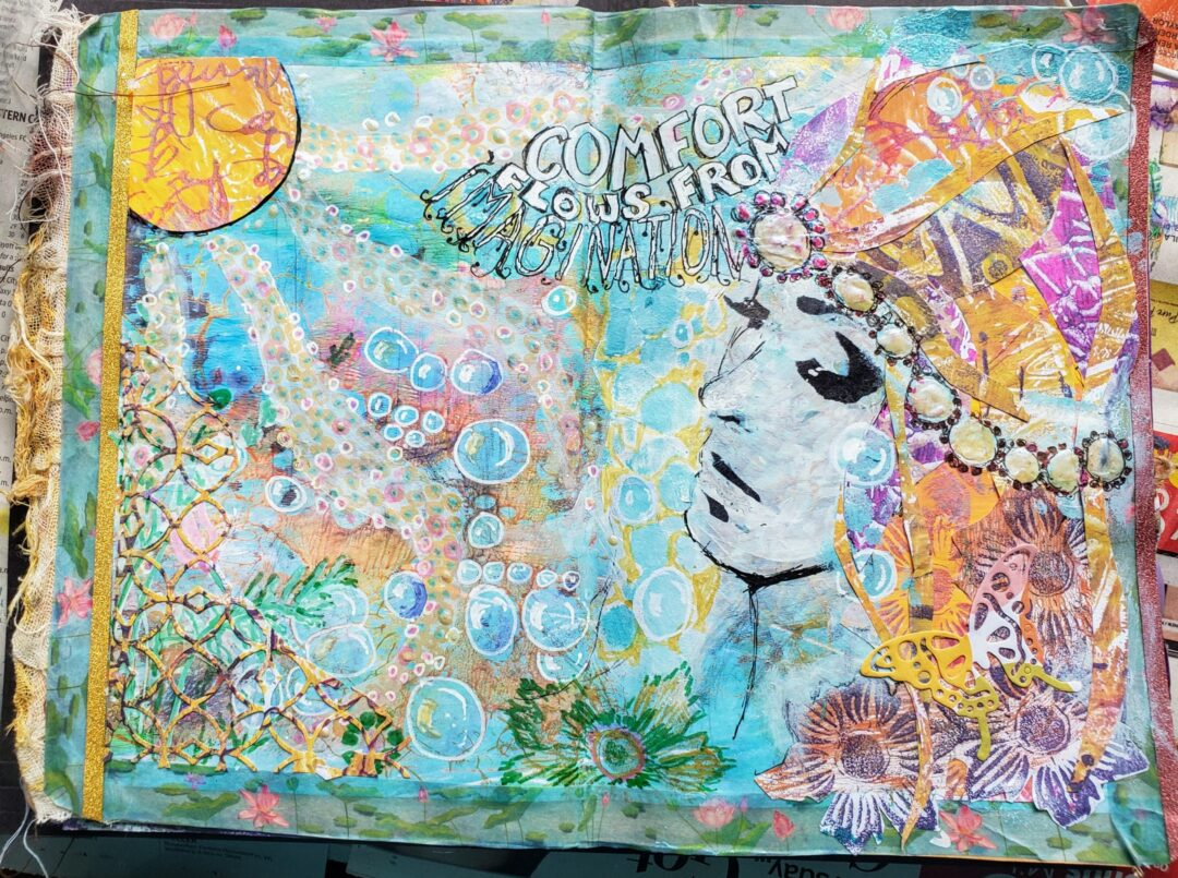 Comfort Zone Art Journalling Page
