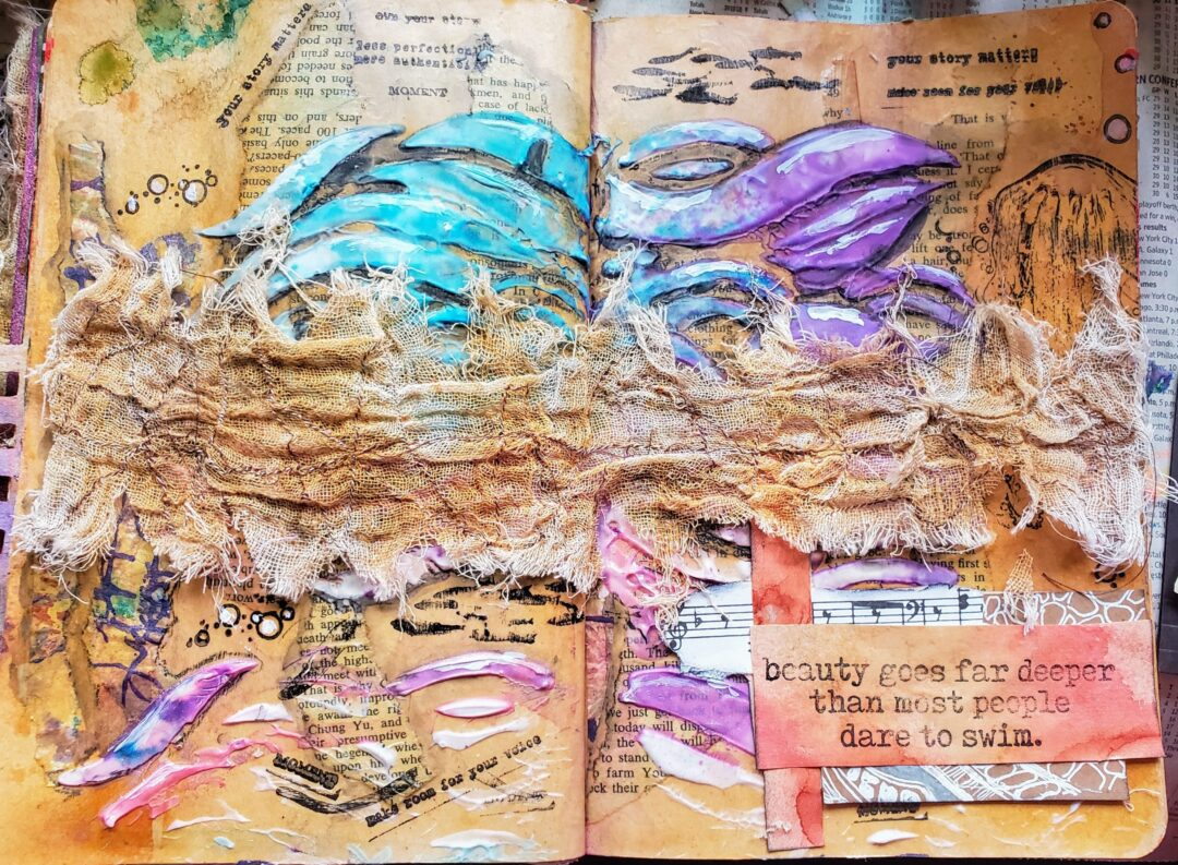 flow art journal page