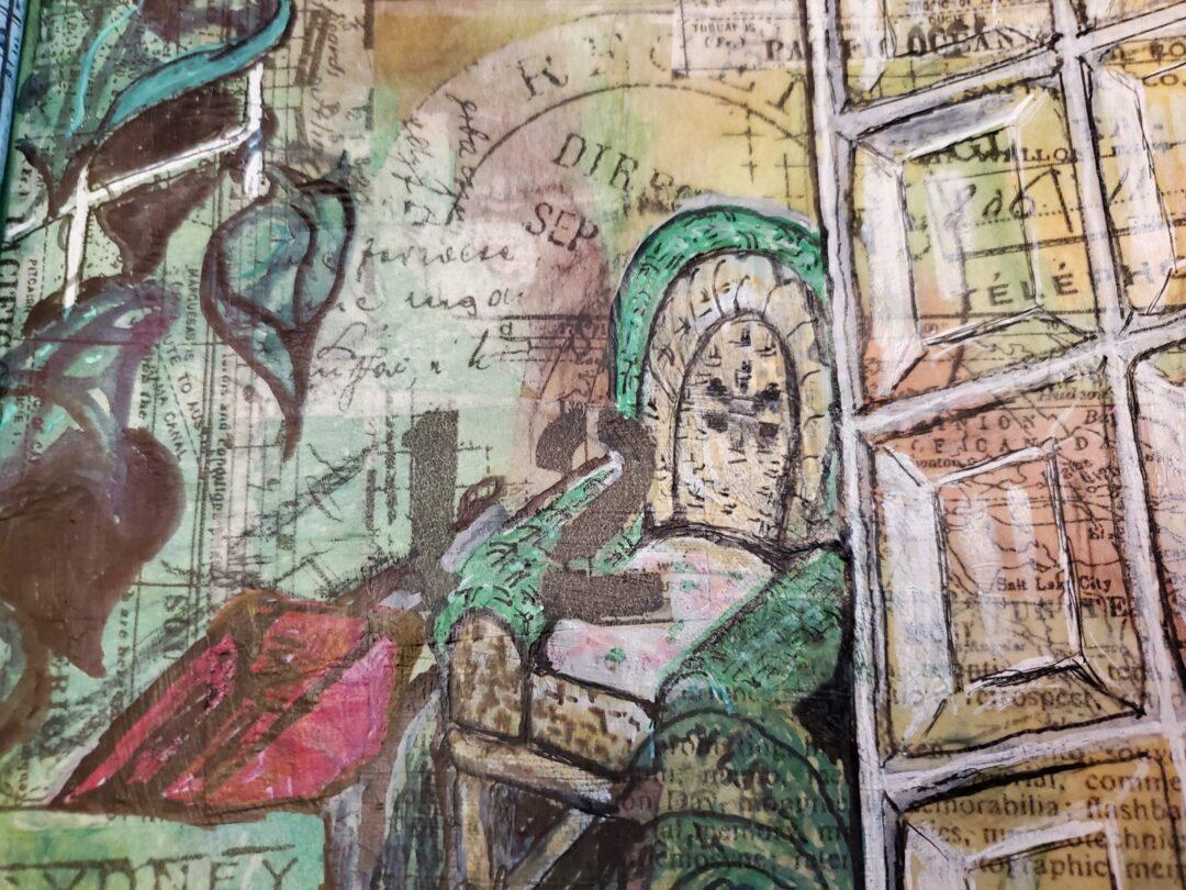 Longing Art Journal Page